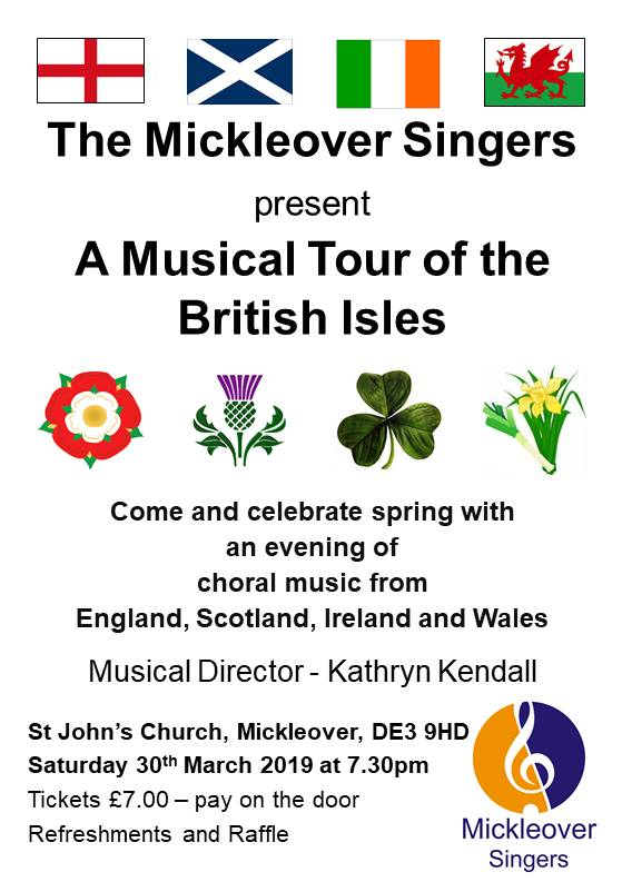 A Musical Tour of the British Isles – 30th March